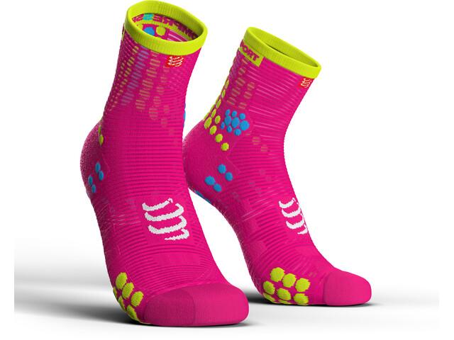 Compressport Pro Racing V3.0 Run High Running Socks pink